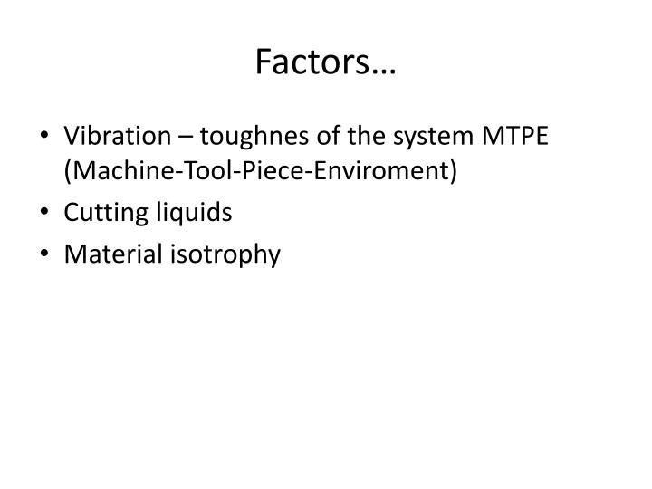 Factors…