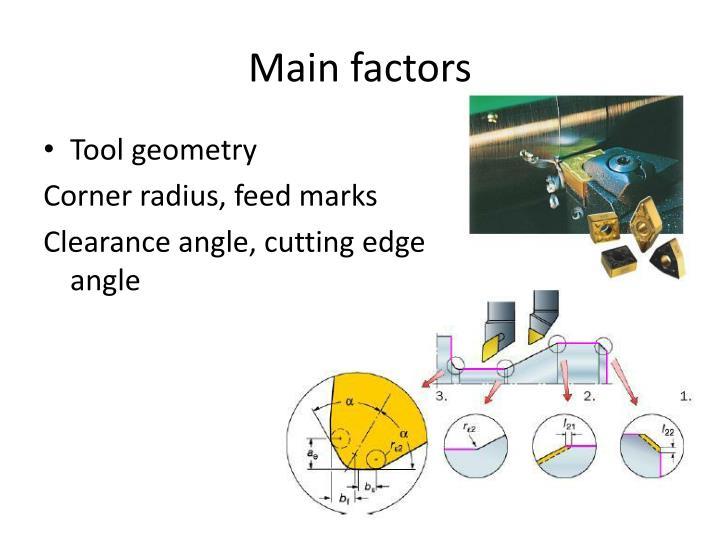 Main factors