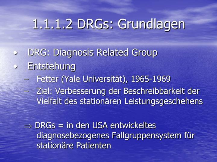 1.1.1.2 DRGs: Grundlagen