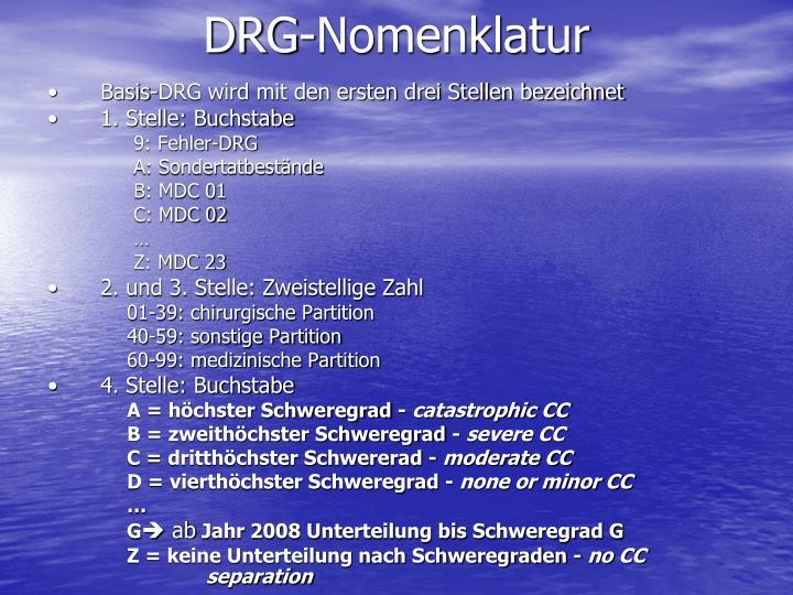 DRG-Nomenklatur