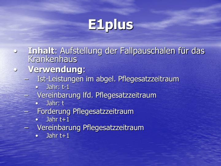 E1plus