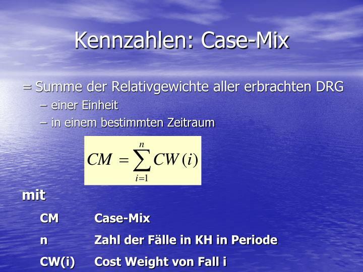 Kennzahlen: Case-Mix