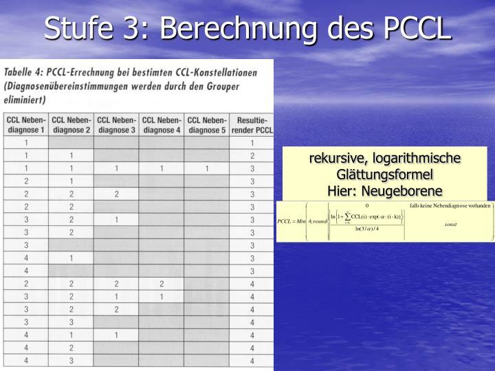 Stufe 3: Berechnung des PCCL