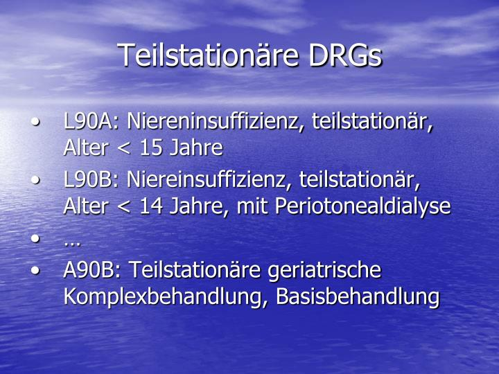 Teilstationäre DRGs