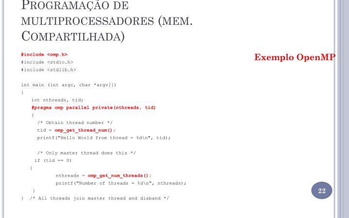Programação de