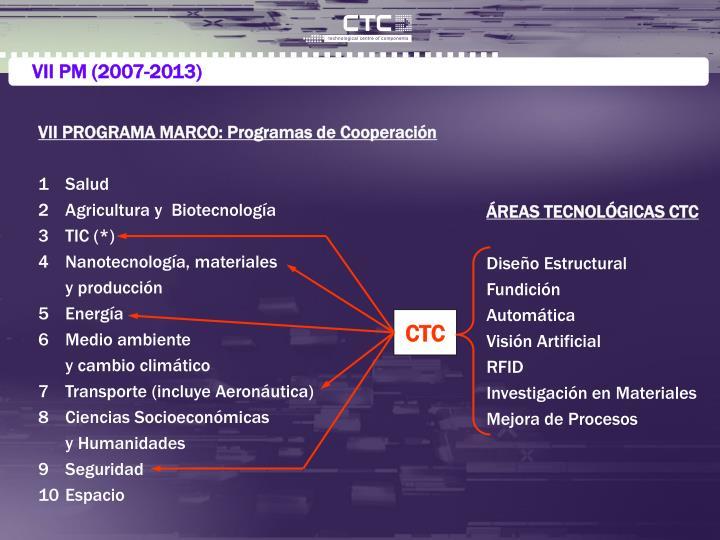 VII PM (2007-2013)