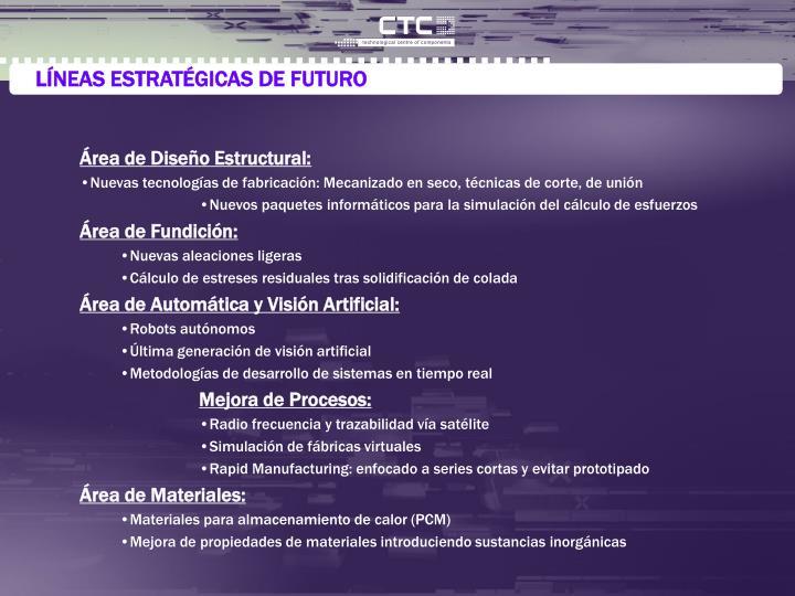 LÍNEAS ESTRATÉGICAS DE FUTURO