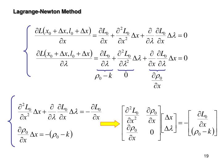 Lagrange-Newton Method