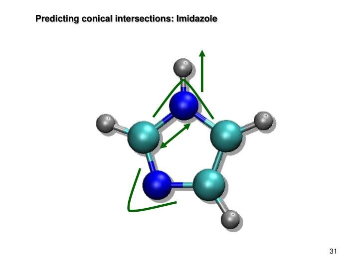 Predicting conical intersections: Imidazole