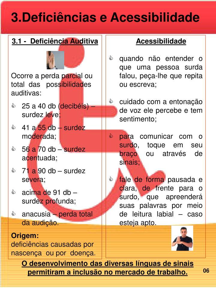 3.Deficiências e Acessibilidade
