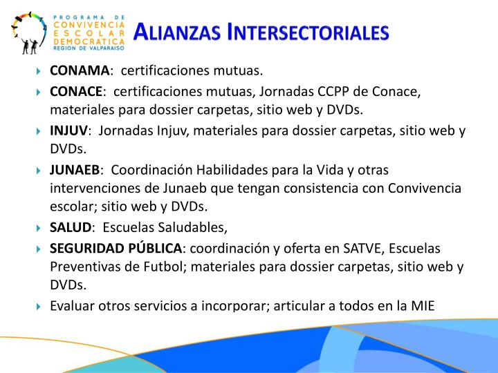 Alianzas Intersectoriales