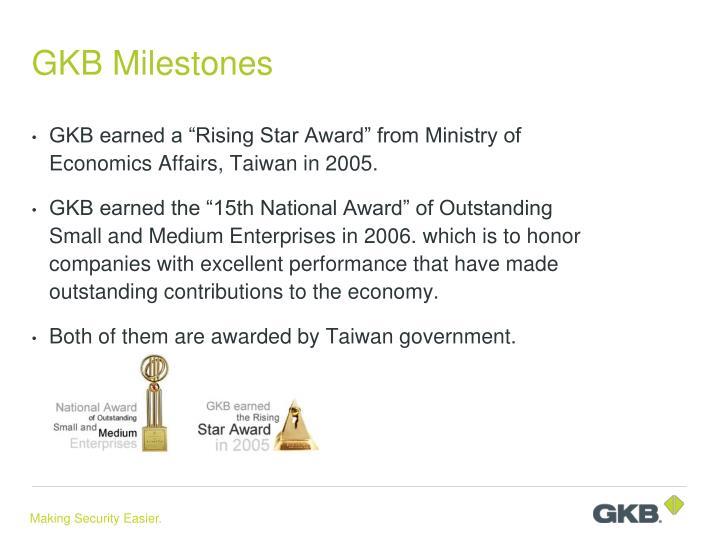 GKB Milestones