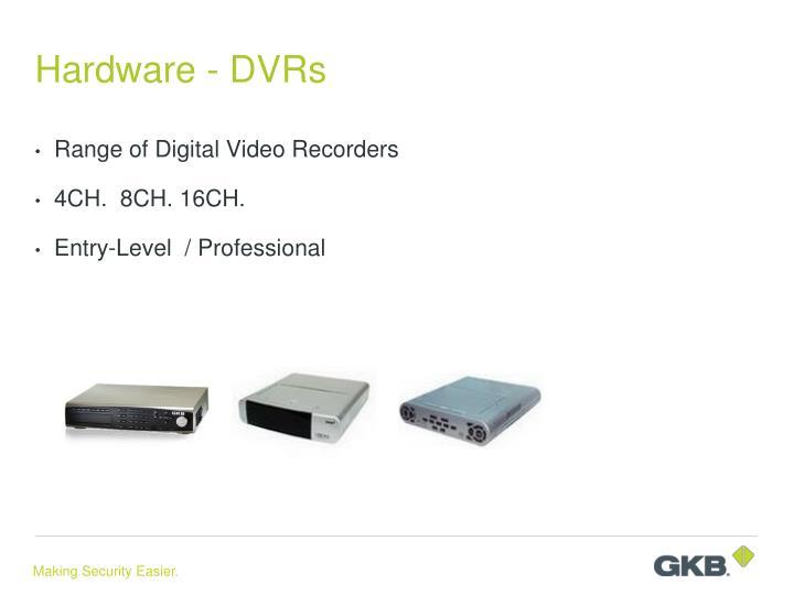 Hardware - DVRs