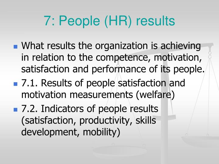 7: People (HR) results