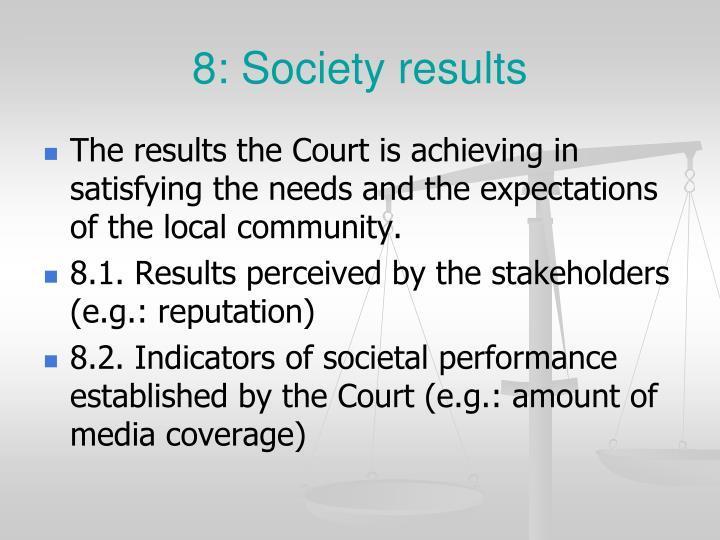 8: Society results