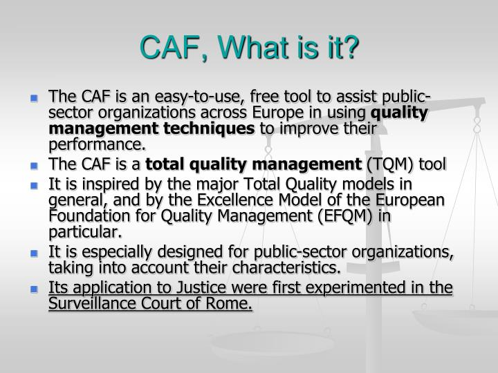 Caf what is it