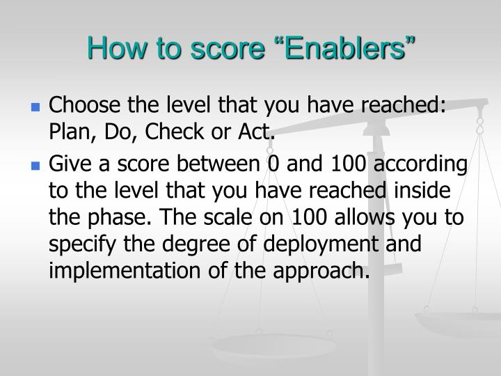 "How to score ""Enablers"""