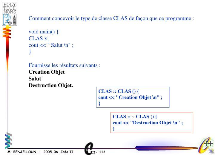 CLAS :: CLAS () {