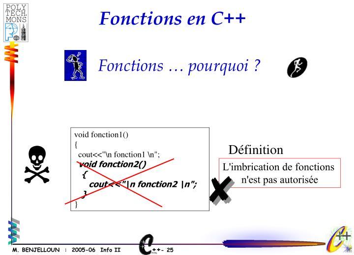 Fonctions en C