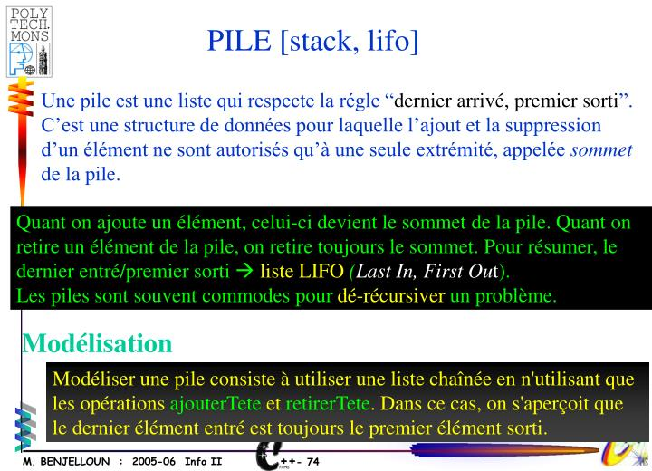 PILE [stack, lifo]