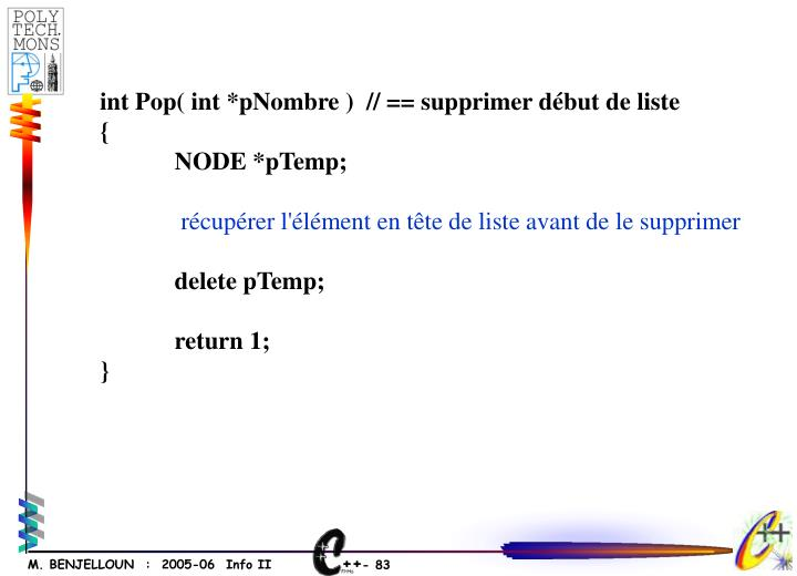 int Pop( int *pNombre )