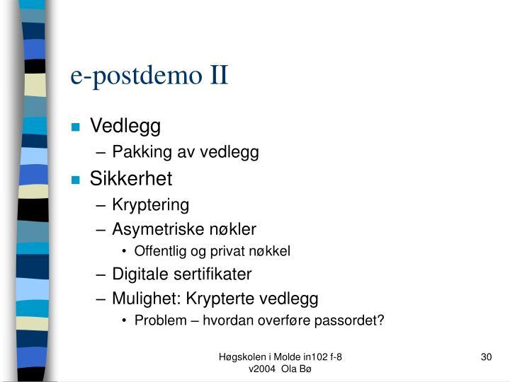 e-postdemo II