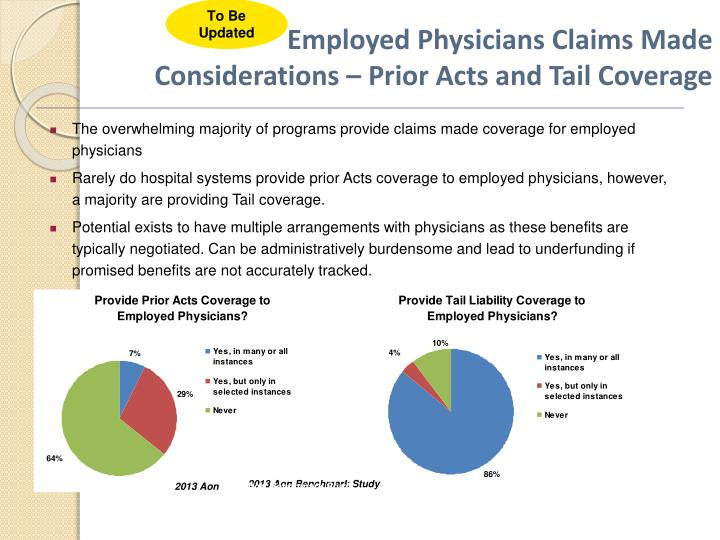 Employed Physicians Claims Made Considerations – Prior Acts and Tail Coverage