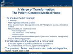 a vision of transformation the patient centered medical home