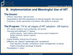 b implementation and meaningful use of hit
