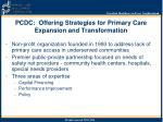 pcdc offering strategies for primary care expansion and transformation