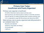 primary care today insufficient and poorly organized