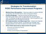 strategies for transformation pcdc performance improvement programs