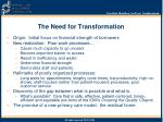the need for transformation