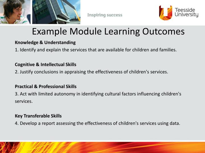Example Module Learning Outcomes