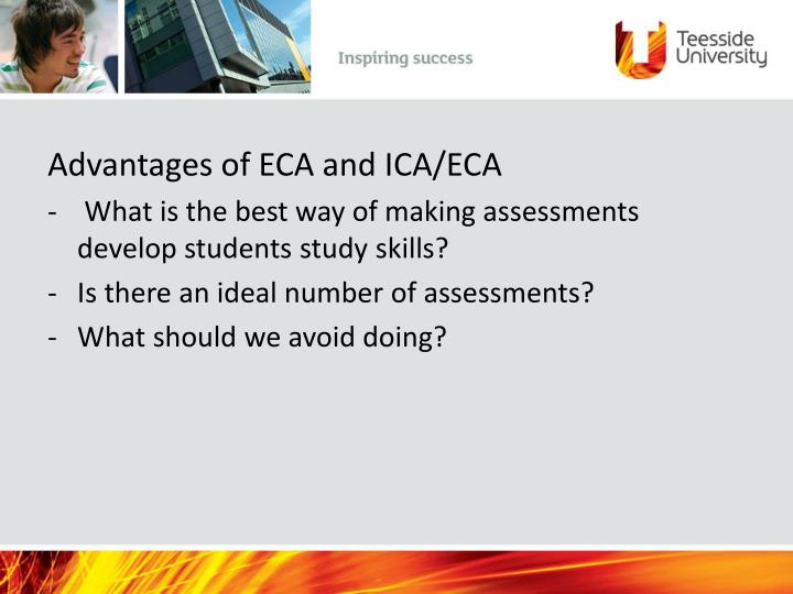 Advantages of ECA and ICA/ECA