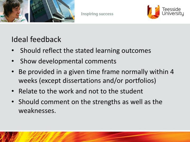 Ideal feedback