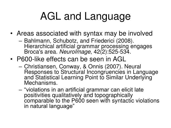 AGL and Language