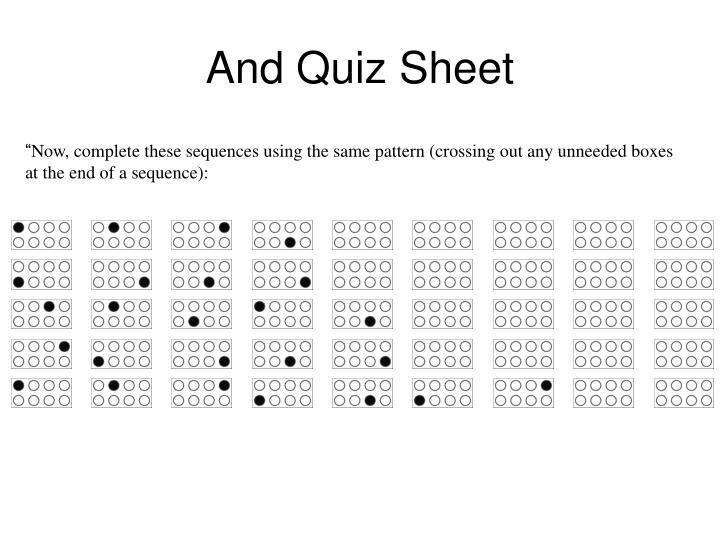 And Quiz Sheet