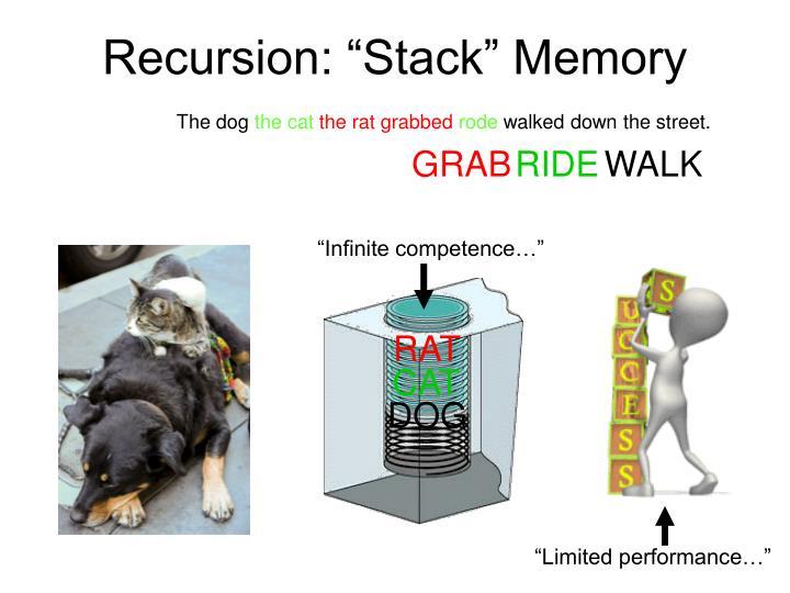 """Recursion: """"Stack"""" Memory"""