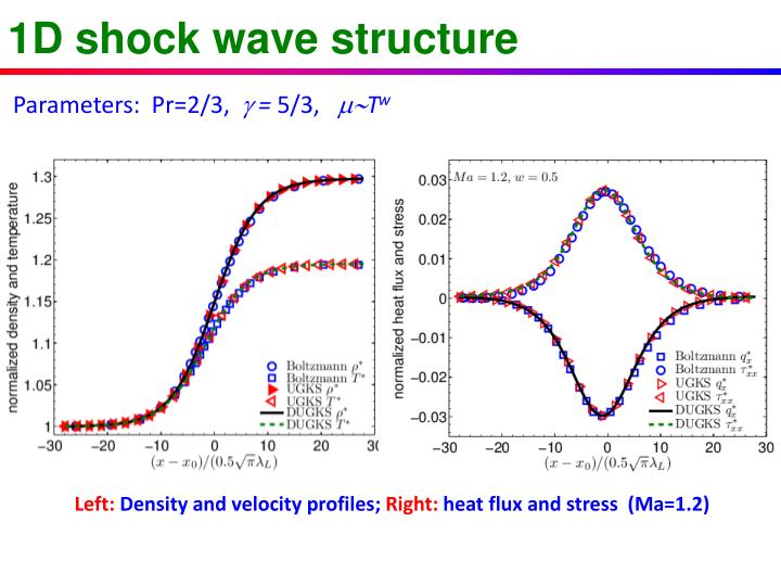 1D shock wave structure