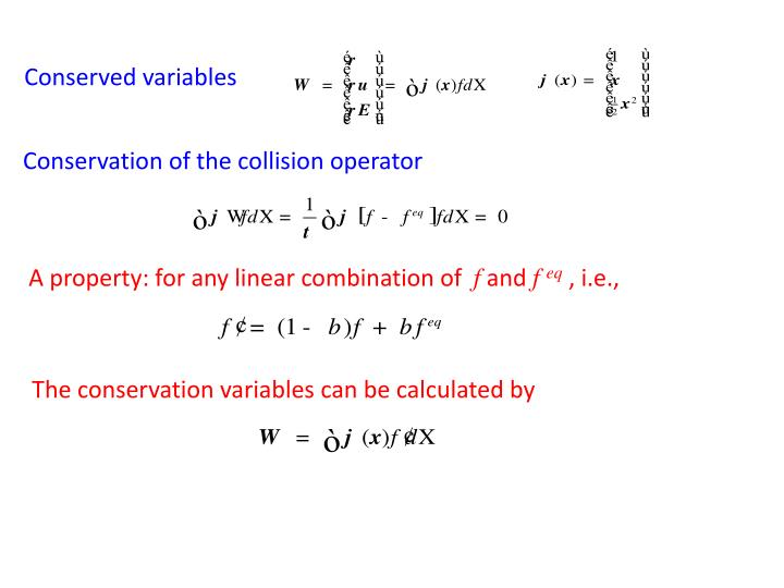 Conserved variables