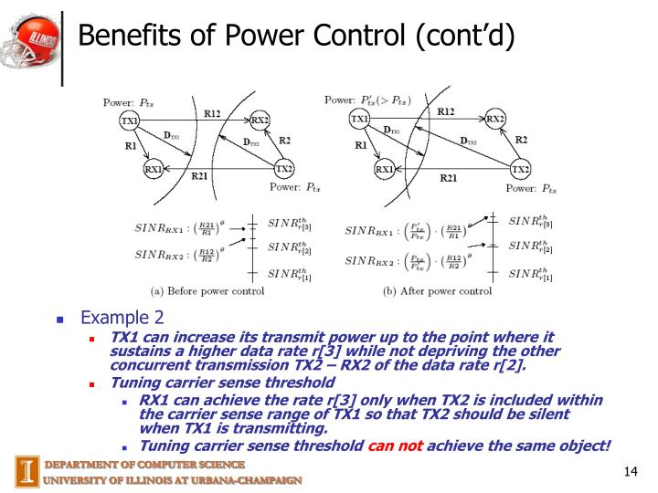 Benefits of Power Control (cont'd)
