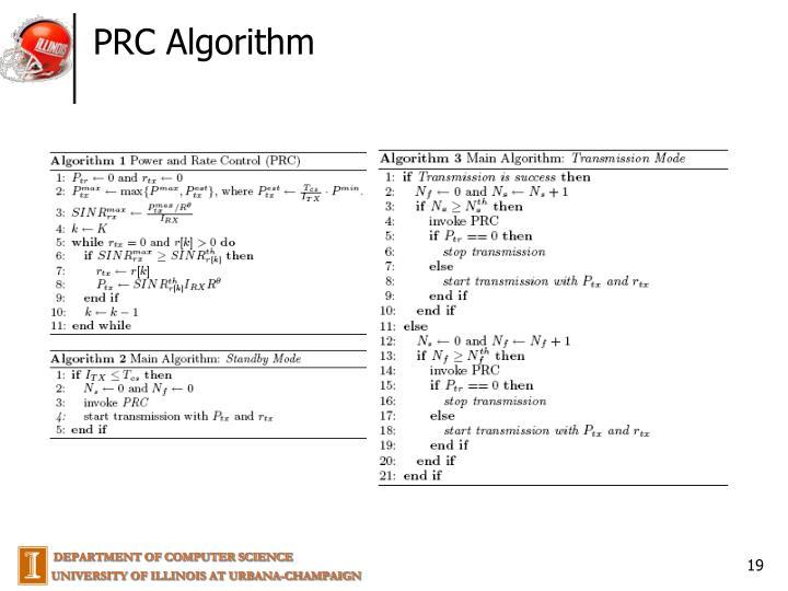 PRC Algorithm