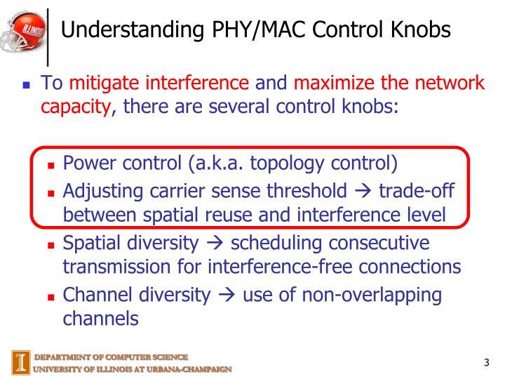 Understanding PHY/MAC Control Knobs