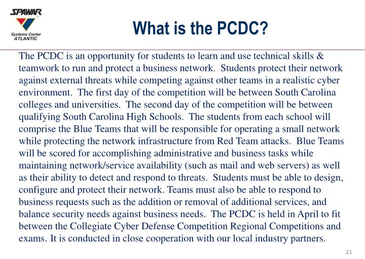 What is the PCDC?