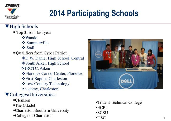 2014 Participating Schools