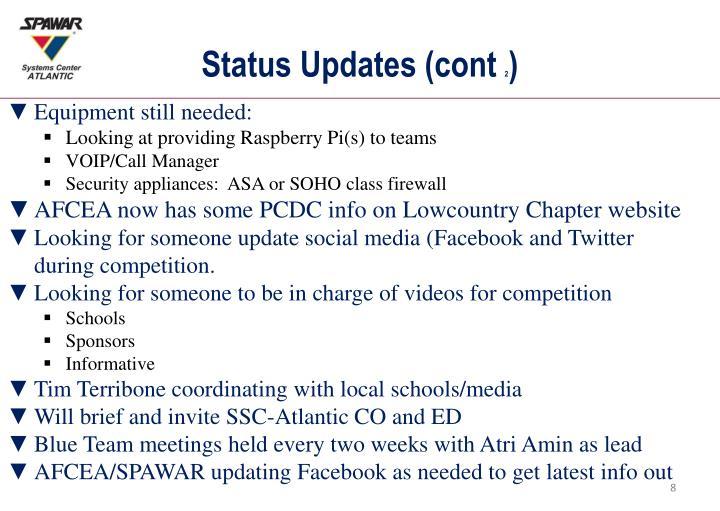 Status Updates (cont