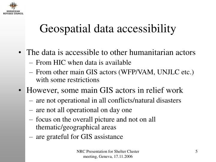 Geospatial data accessibility