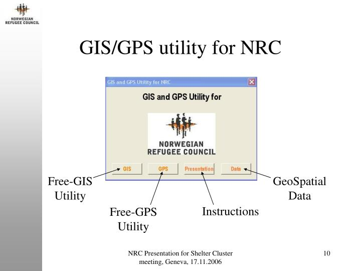 GIS/GPS utility for NRC