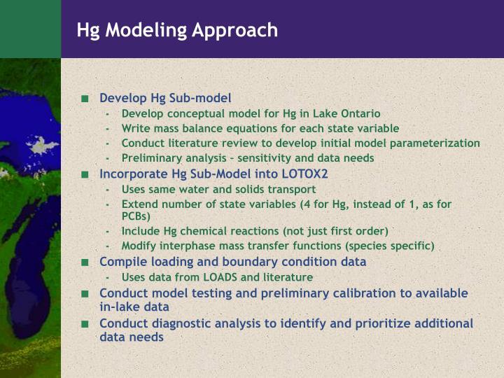 Hg Modeling Approach